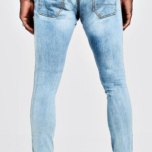 Boohoo Man Skinny Jean With Side Tapped